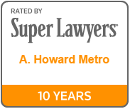 Chosen for inclusion in Maryland and D.C. Super Lawyers Magazines, Law and Politics Publishers-Business Corporate* for seven years in a row.