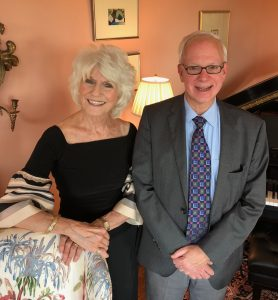 Image of Attorney Larry Jacobs and Diane Rehm, former NPR broadcast journalist.